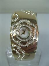 newstuffdaily: NIB BADGLEY MISCHKA Crystal Ladies Semi Bangle Watch