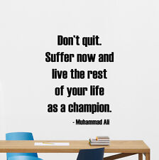 Muhammad Ali Quote Wall Decal Gym Art Boxing Vinyl Sticker Fitness Poster 192crt