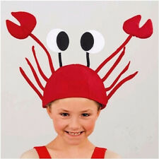 Adult & Children Red Novelty Lobster Sea Animal Hat Costume Accessory Funny Cap