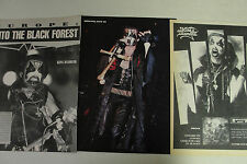 KING DIAMOND & MERCYFUL FATE: Lot of 29 Magazine Clippings & Ads vintage