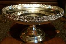 Large Antique HM Solid Sterling Silver Compote Tazza Fruit Bowl Centerpiece 1923
