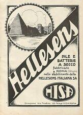 Y1150 Pile e batterie a secco HELLESENS - Pubblicità 1930 - Advertising