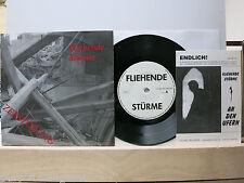 """Fliehende Stürme – Zerstörung  7""""  Single  + Textblatt  + lyrics  STORM REC. 002"""