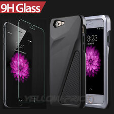 iPhone 6 Case, [Tempered Glass Protection]3 in 1 Heavy Duty Hybrid Car Armor Cas