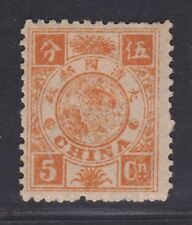China 1894 Dowager 5c Mint Hinged, OG, F-VF (set A)