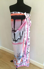 NWT PASTEL PATTERNED LARGE SARONG / BEACH WRAP BY EUGEN KLEIN RRP £35 - GORGEOUS