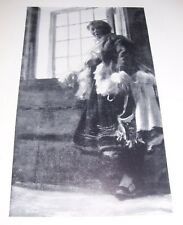 1911 AT THE WINDOW & KARI MORA PEASANT GIRL by Anders Zorn Print Dalarna Swedish