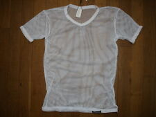 T-shirt blanc Taille XL  résille transparent sheer sexy gay Ref M09