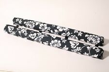 """Vitamin Blue 36"""" Roof Rack Pads - Non Logo Black Floral (MADE in USA) AERO PADS"""