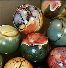 NATURAL 10MM MULTICOLOR PICASSO JASPER GEMSTONE ROUND BALL LOOSE BEAD STRAND 15