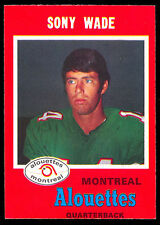 1971 OPC O PEE CHEE CFL #117 SONNY WADE NM MONTREAL ALOUETTES TIGER CATS EGALES