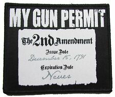 MY GUN PERMIT 2ND AMENDMENT RIGHT TO BEAR ARMS USA 2A SWAT MORALE VELCRO PATCH