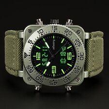 INFANTRY Herren Analog Quarz Digitaluhr Armbanduhr Wecker Stoppuhr Outdoor Grün