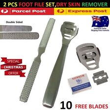 2 Pcs Foot File Pedicure Double Sided Nail Rasp Dead Skin Callus Remover Tool