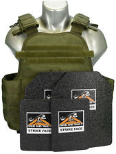 CATI AR500 Body Armor OD MOPC Plate Carrier Level 3 BASE COATING 10X12 6x8