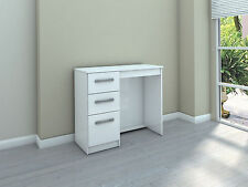 Birlea Lynx Dressing Table with 3 Drawers - White Gloss