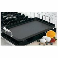 "Cuisinart 13""x 20"" Double Burner Griddle - Griddle - Stainless Steel Handle,"