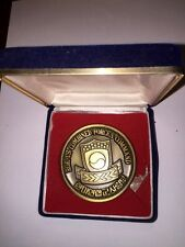 NICE HEAVY SOLID MEDAL FROM 1988 SEOUL KOREA OLYMPICS MILITARY GENERAL