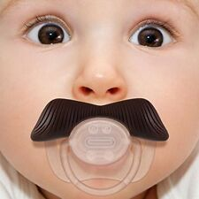 Baby Classic Gentleman Mustache Baby Girl Boy Pacifier Nipples (Black)