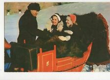 Winter Sightseeing by Sleigh Quebec Canada 1959 Postcard 050a