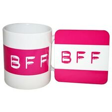 MugBug BFF Mug and Coaster Set Best Friend Forever Acronym