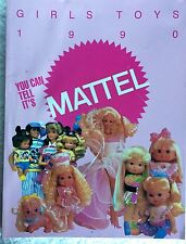 MATTEL 1990 GIRLS TOYS CATALOG for Dealers -Barbie, Large & Small Dolls