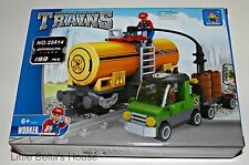 Ausini TRAINS Set#25414 Building Block Toy 199pcs city,tank car (lego compatible