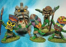Dungeons & Dragons Miniatures Lot  Tribal Native Warrior Camp !!  s102
