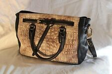 Aimee Kestenberg Dani Quilted Leather Satchel Handbag Purse - Gunmetal