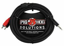 """Pig Hog 10' Stereo Y Cable 3.5mm 1/8"""" Headphone jack to RCA - PB-S3R10"""