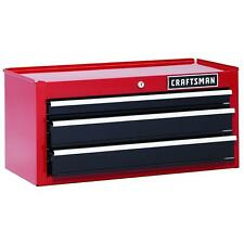 New red Craftsman 26 in 3-Drawer Heavy-Duty Ball Bearing Middle Chest Toolbox
