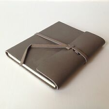 New RUSTICO Writers Log Small Notebooks Leather Journals Christmas Gifts Gray S.