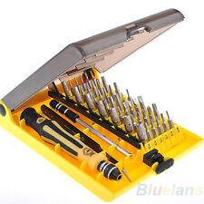 45 En 1 Precision Torx Destornillador teléfono Discos Duros Reparar Pinzas Set Kit ba3k