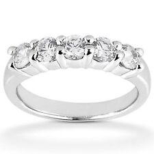 5 ROUND DIAMOND WEDDING BAND PLATINUM RING, 1.85 carat F color SI1 clarity