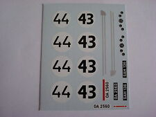 DECALS KIT 1/43 Saab 93 Le Mans 1959 N.43-44 2 VERSIONI DECALCOMANIA