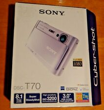 SONY DSC-T70 8.1MP DIGITAL STILL CAMERA  - BLACK BRAND NEW OPENED BOX GREAT GIFT