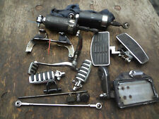 1995 HARLEY DAVIDSON SPRINGER SOFTAIL FXSTS REAR SHOCK GEAR SHIFTER FOOT PEGS ++