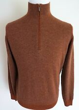 $865 LORO PIANA 100% Cashmere Roadster Pull Light 1/2 Zip Sweater 48 Euro Small