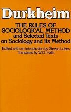 The Rules of Sociological Method by Émile Durkheim (1982, Paperback)