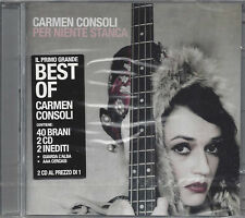 2 CD ♫ Compact disc **CARMEN CONSOLI ♥ PER NIENTE STANCA** Best Of nuovo