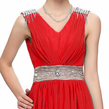 2016 CHEAP ! Long Evening Formal Bridesmaid Wedding Ball Gown Prom Party Dresses