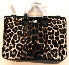 Tory Burch ROBINSON Snow Leopard Calf Hair Square Tote Hand Bag