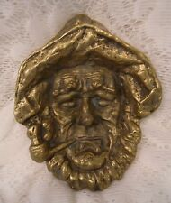 Vintage 1967 Keeler Brass Sailor With Pipe Trinket tray ashtray Wall Nautical