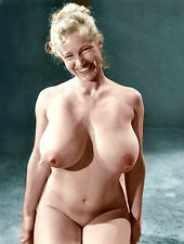 1960s Virginia Bell Nude Studio pose massive breasts exposed 8 x 10 Photograph