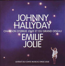 CD Single Johnny HALLYDAY Chanson d'Emilie Jolie et du grand oiseau 1-track CARD