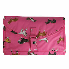 Milly Green Horse Design Pink Foldable Cosmetic Make up Wash Travel Bag