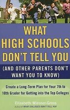What High Schools Dont Tell You (and Other Parents Dont Want You to Know): Creat