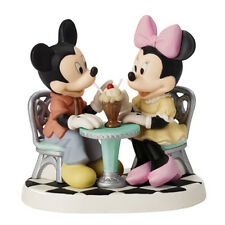 $ New PRECIOUS MOMENTS DISNEY Figurine MICKEY MINNIE MOUSE Life Is So Sweet SODA
