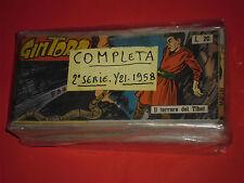 GIM TORO STRISCIA 2°SERIE COMPLETA N° 1/21 DEL 1958 ORIGINALE DARDO-MOLTO RARA