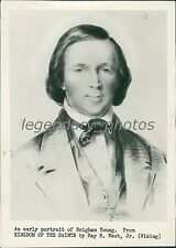 Early Portrait of Brigham Young from 1800s Original News Service Photo
